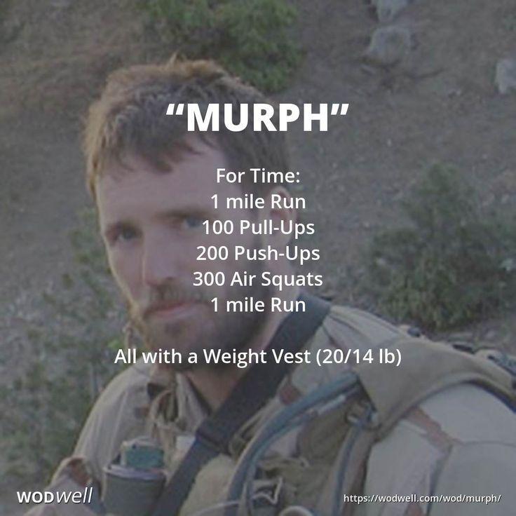 """Murph"" WOD Weight vest workout, Navy seal workout, Navy"