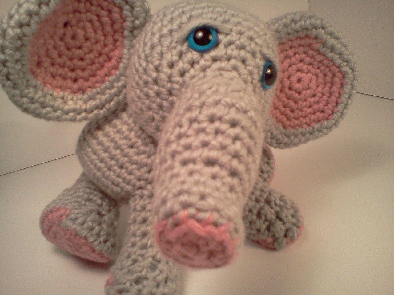 Dibujo Pintura Crochet: Modelo de Lucas Baby Elephant Ami\'Pal ...