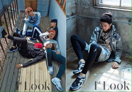 BTS lounge about casually in 'Puma' wear for '1st Look' | allkpop.com
