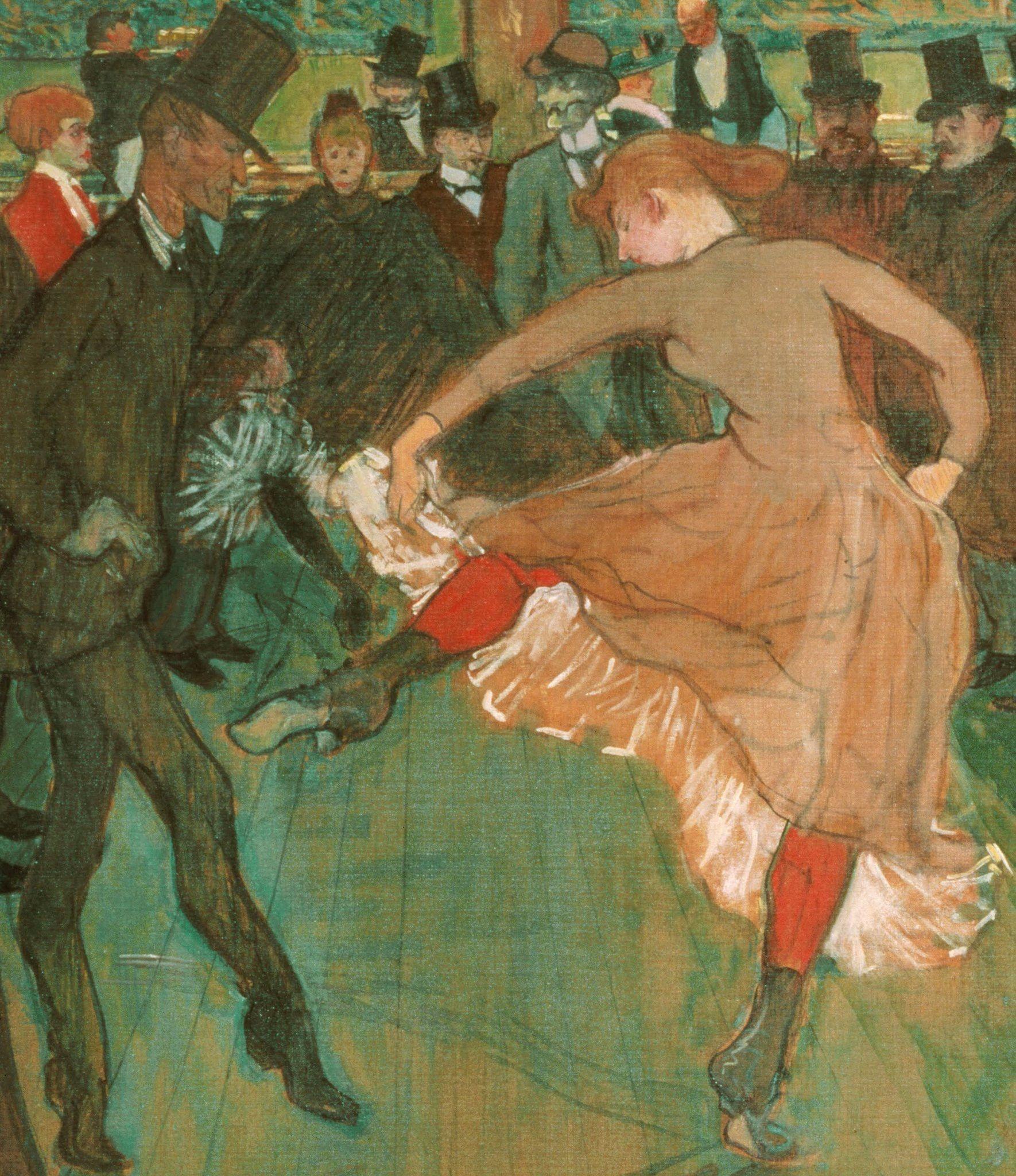 Henri De Toulouse Lautrec Ball In The Moulin Rouge Detail