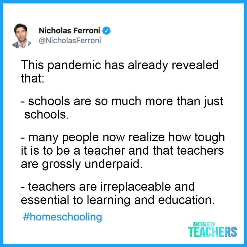 Nicholas Ferroni On Twitter In 2020 Teacher Memes Teaching Memes Teacher Inspiration