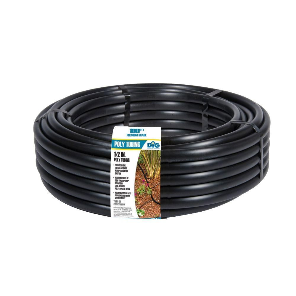 1 2 In X 100 Ft Drip Tubing Also Available In 1 4 Http Www Homedepot Com P Dig 1 4 In X 100 Ft Poly Tubi Irrigation Watering Irrigation Micro Sprinkler