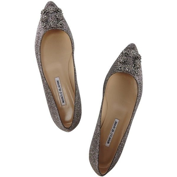 f709487cd4b8d where to buy manolo blahnik hangisi glittered pointed flats featuring  polyvore womens fashion shoes flats 73e10