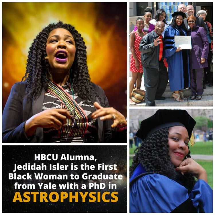 Jedidah Isler is an astrophysicist who studies supermassive black holes at the center of galaxies. She is a graduate of Norfolk State & Fisk Universities