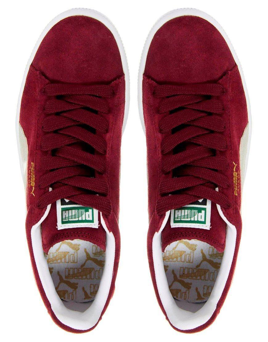 Puma | Puma Suede Classic Burgundy Sneakers at ASOS
