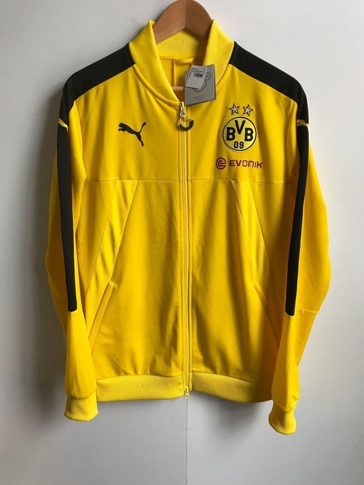 ec9cf558a Borussia Dortmund Puma Men's BVB Stadium Jacket - Medium (M) - Yellow - New
