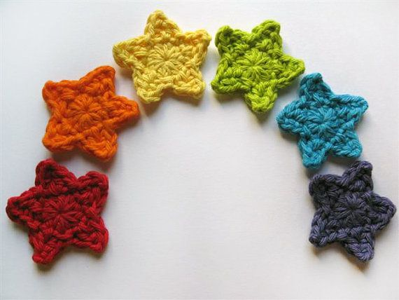 Pattern Crochet Star Applique Detailed Photos Crochet Stars