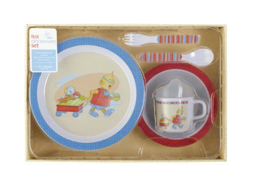 Amazon.com: C.R. Gibson Melamine Dinnerware Set, Baby Bots: Baby