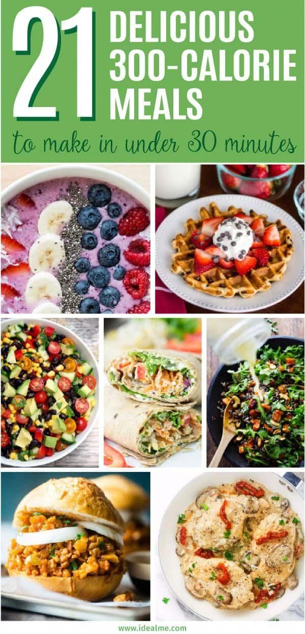 300-calorie meals you can make in under 30 minutes - we've found 21 quick, healthy and tasty meals that won't sabotage your waistline. #HealthyFooddiet #300caloriemeals