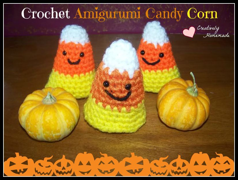 Guilt-Free Candy Corn Crochet Pattern Fun halloween decorations - decorations to make for halloween