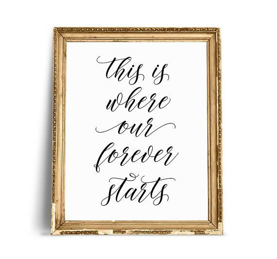 This Is Where Our Forever Starts Wedding Signs This Is Where | Etsy