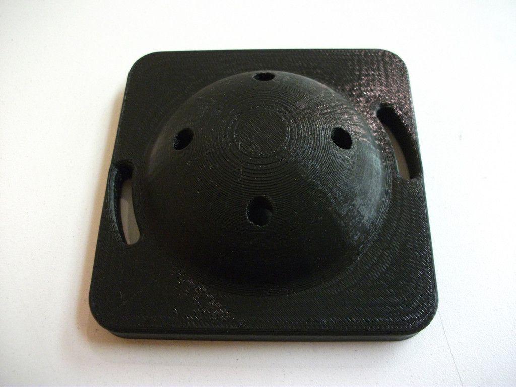 3D Printed Dome in Black and White PLA | Dôme Imprimé en 3D en PLA Blanc et Noir