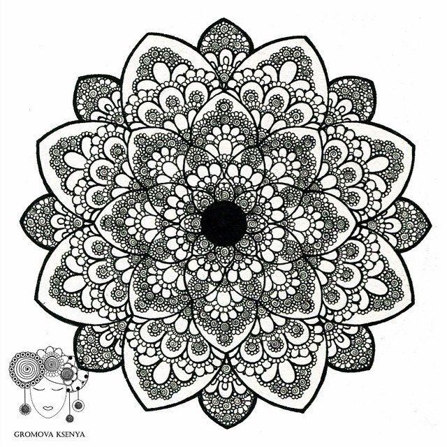 Vot I Ona Topcreator Mandala Grafika Ornament Uzor