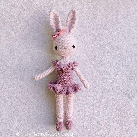 Amigurumi Crochet lapin avec disquette hochet jouet et poupée ... | 570x570