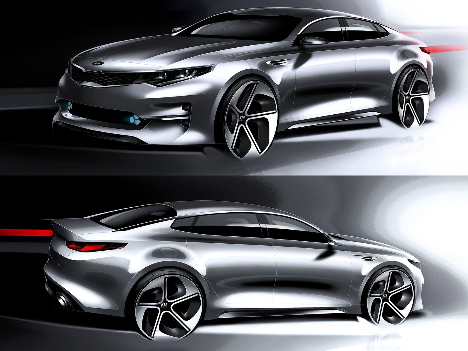 Kia reveals design sketches of next-gen Optima  Car design