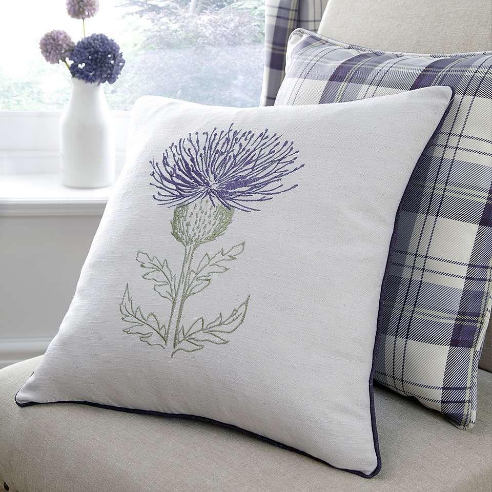 Mauve Balmoral Thistle Cushion | Dunelm | Mom\'s House | Pinterest ...