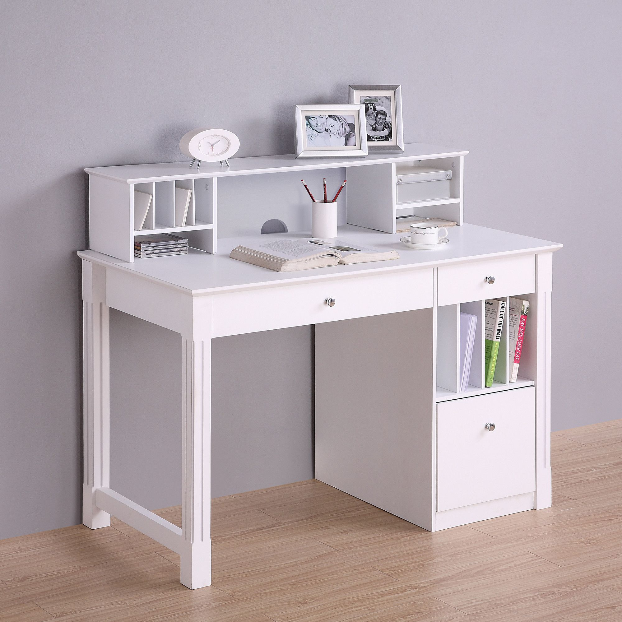 Deluxe Computer Desk with Hutch | Desks, Lofts and Writing desk