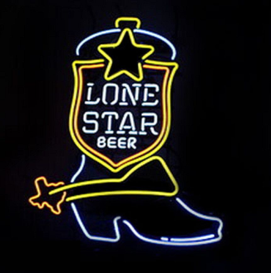 Lone Star Boot Neon Sign   Neon signs, Neon beer signs