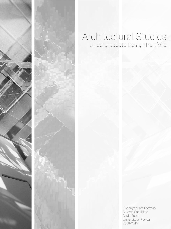 Architectural Undergraduate Studies Portfolio design