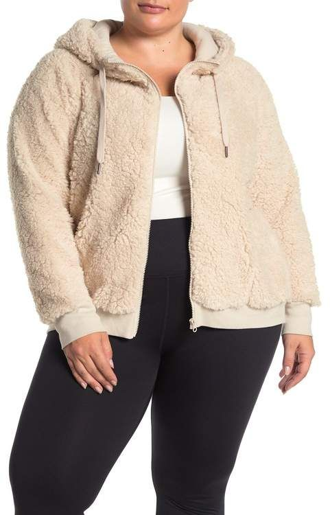 Zella Z By Up & Over Faux Shearling Bomber Jacket (Plus Size) #nordstromrack