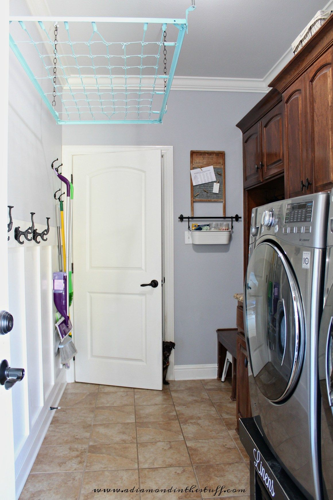 Laundry Room Board And Batten - A Diamond In The