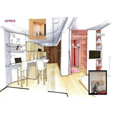 Un studio dessiné par Sophie Ferjani | Maison, Maison a vendre et Plan maison