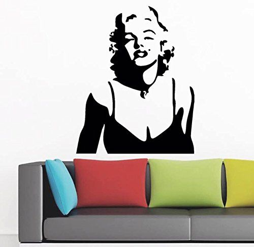 Fashion Women Marilyn Monroe Removable Wall Sticker Home Decal Living Room Bedroom De With Images Wallpaper Decor Bedroom Wall Stickers Wallpaper Wall Stickers Living Room