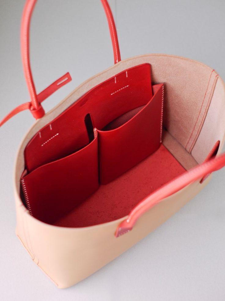 kumosha bolso de cuero cosido a mano rojo y natural – reloj de caballero