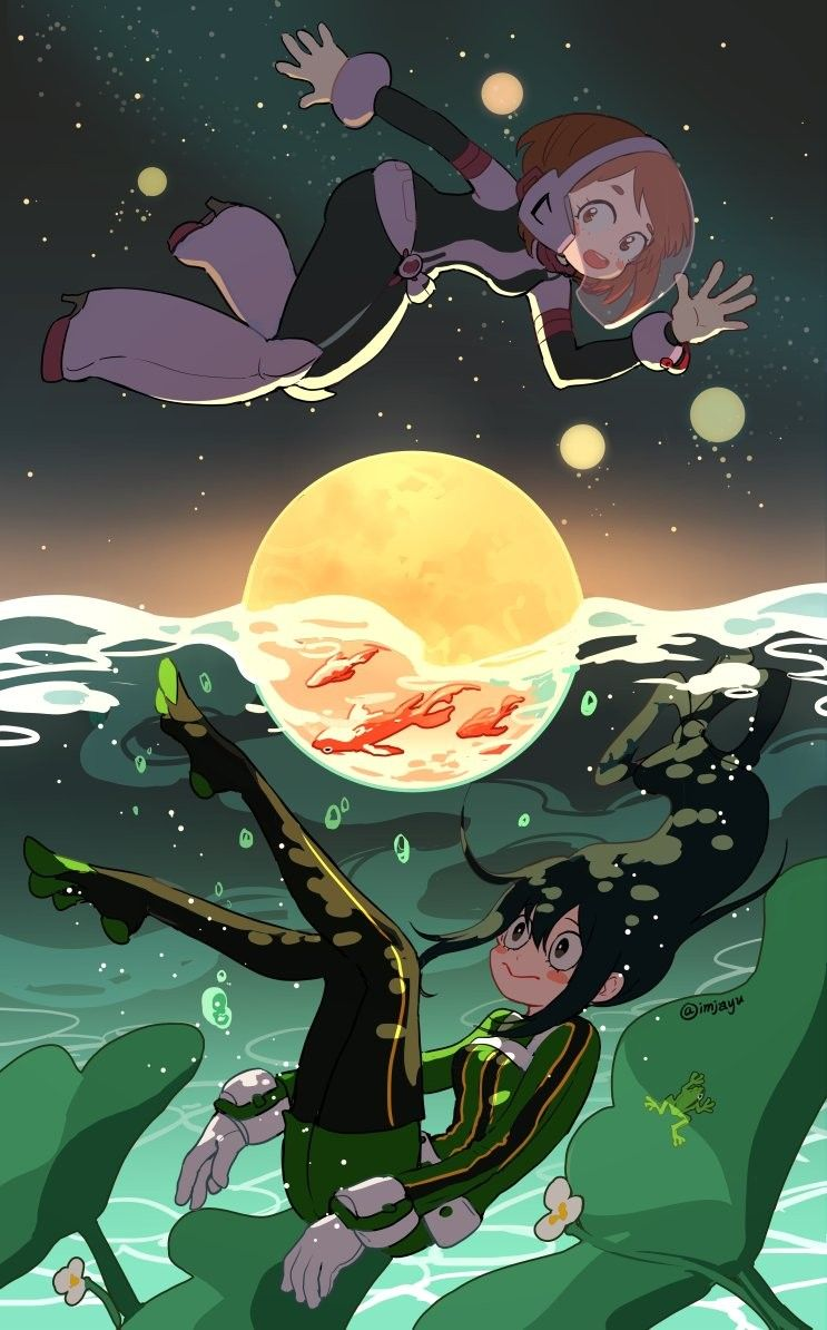 Uraraka Ochako Tsuyu Asui My Hero Academia Tsuyu Hero