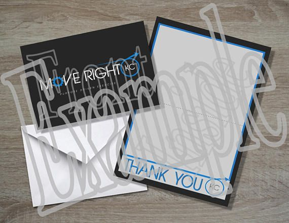 Business Thank You Note Card Folded Card Postcard PDF Crafty - business thank you note