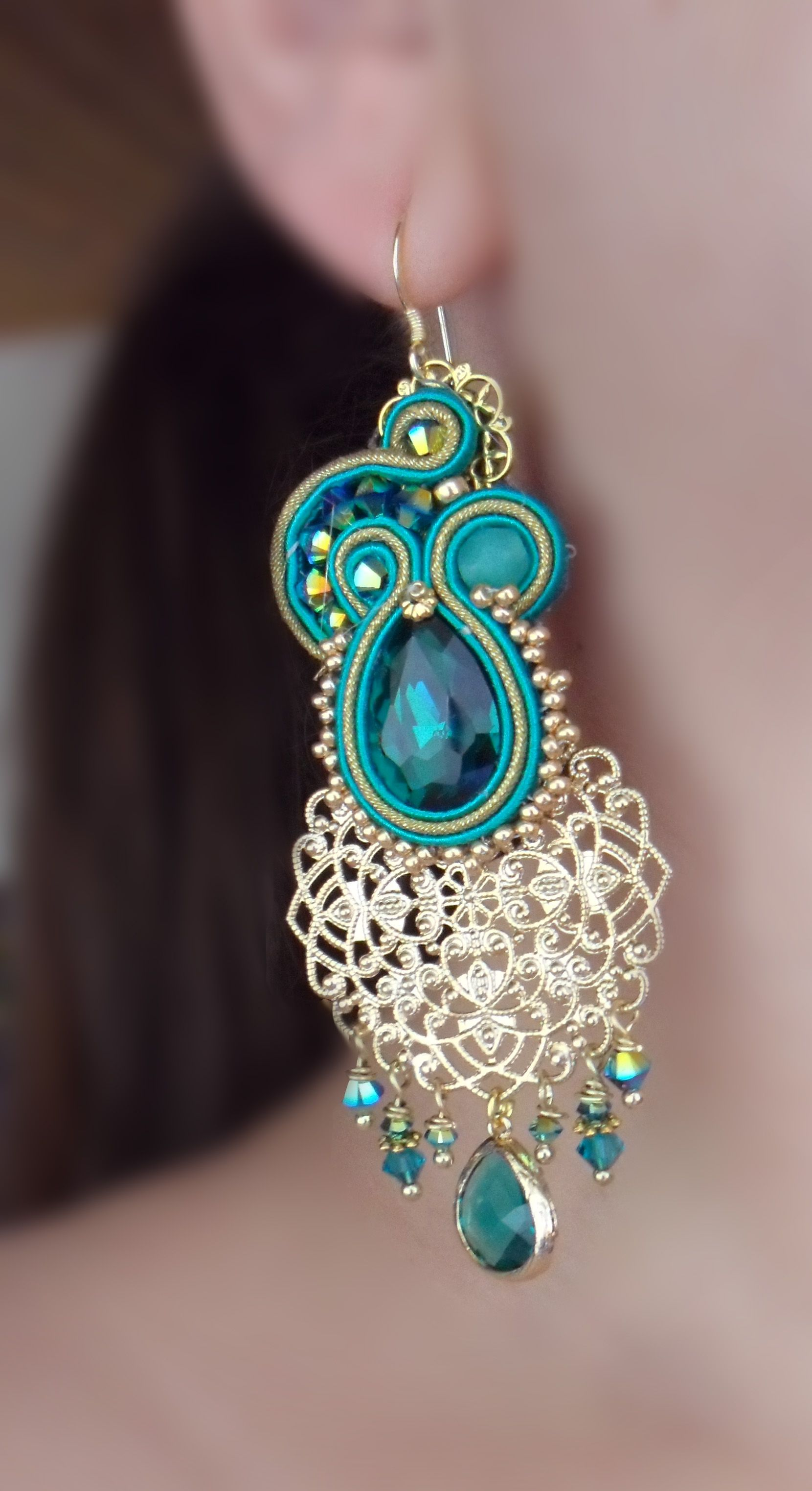 Soutache creation by serena di mercione soutache for Gioielli di design