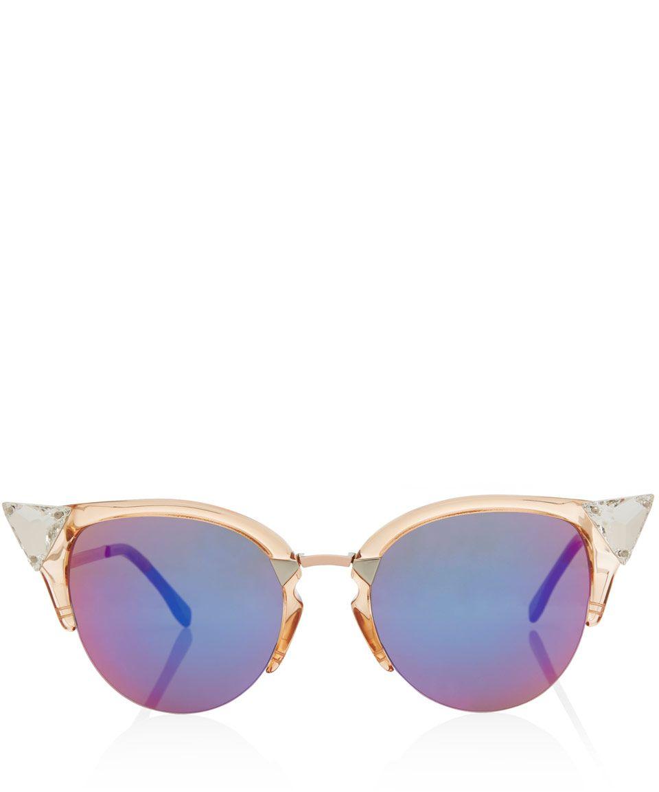 bfc5474212d4 Fendi Pink Iridia Acetate Sunglasses