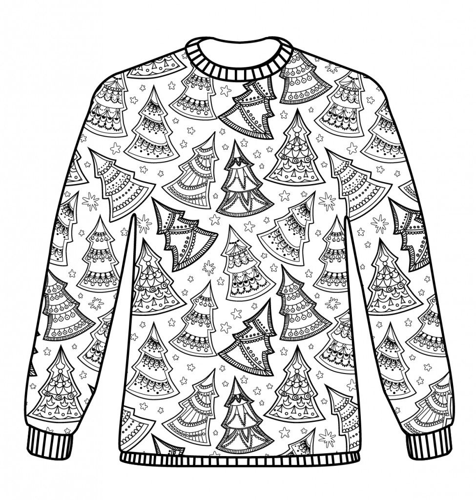 Christmas Jumpers Free Pattern Download PDF 3 Versions Ugly Sweater Coloring LOL Colouring For AdultsColouring PagesAdult