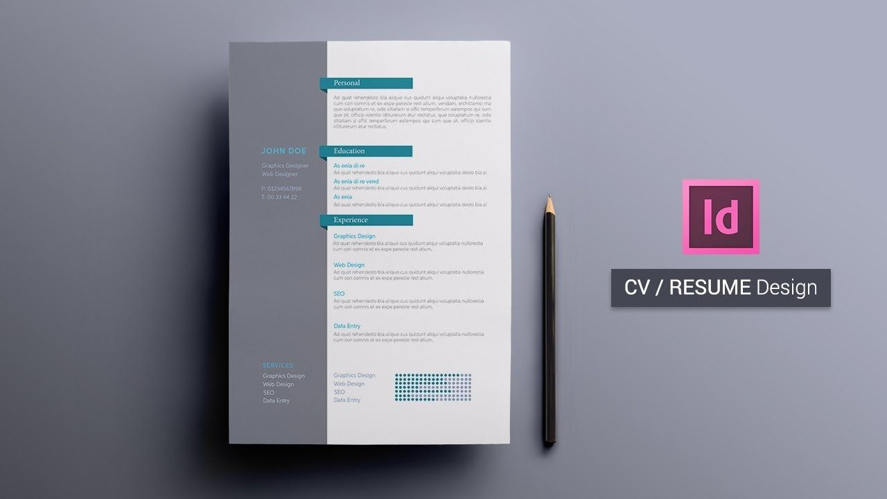 How To Create A CvResume In Indesign  Indesign Tutorial  Cv