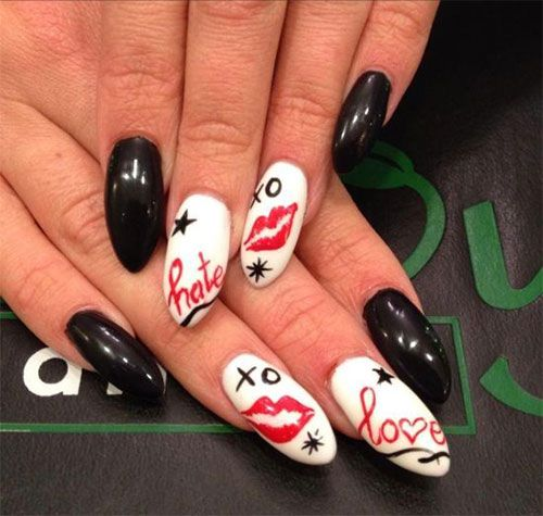 15-Valentines-Day-Pointy-Nail-Art-Designs-Ideas-2017-Vday-Nails-2 | Nail  designs | Pinterest | Pointy nails, Nail supply and Nail stuff - 15-Valentines-Day-Pointy-Nail-Art-Designs-Ideas-2017-Vday-Nails-2