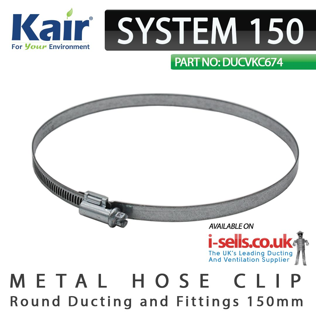 This steel adjustable clip can be used to connect Kair 152mm / 6