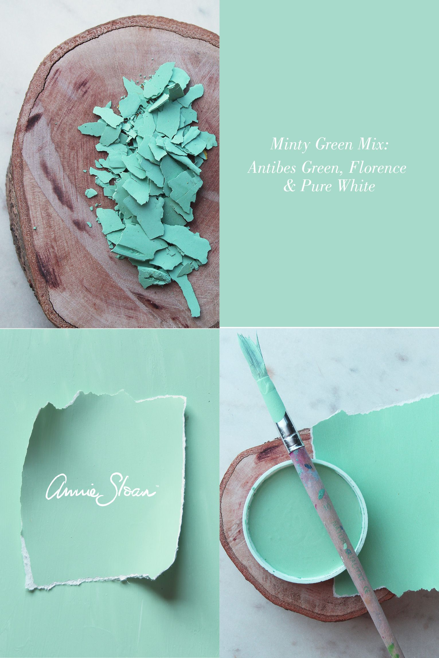 Genoeg A stunning, minty blue paint colour mix by Annie Sloan | Annie SN49