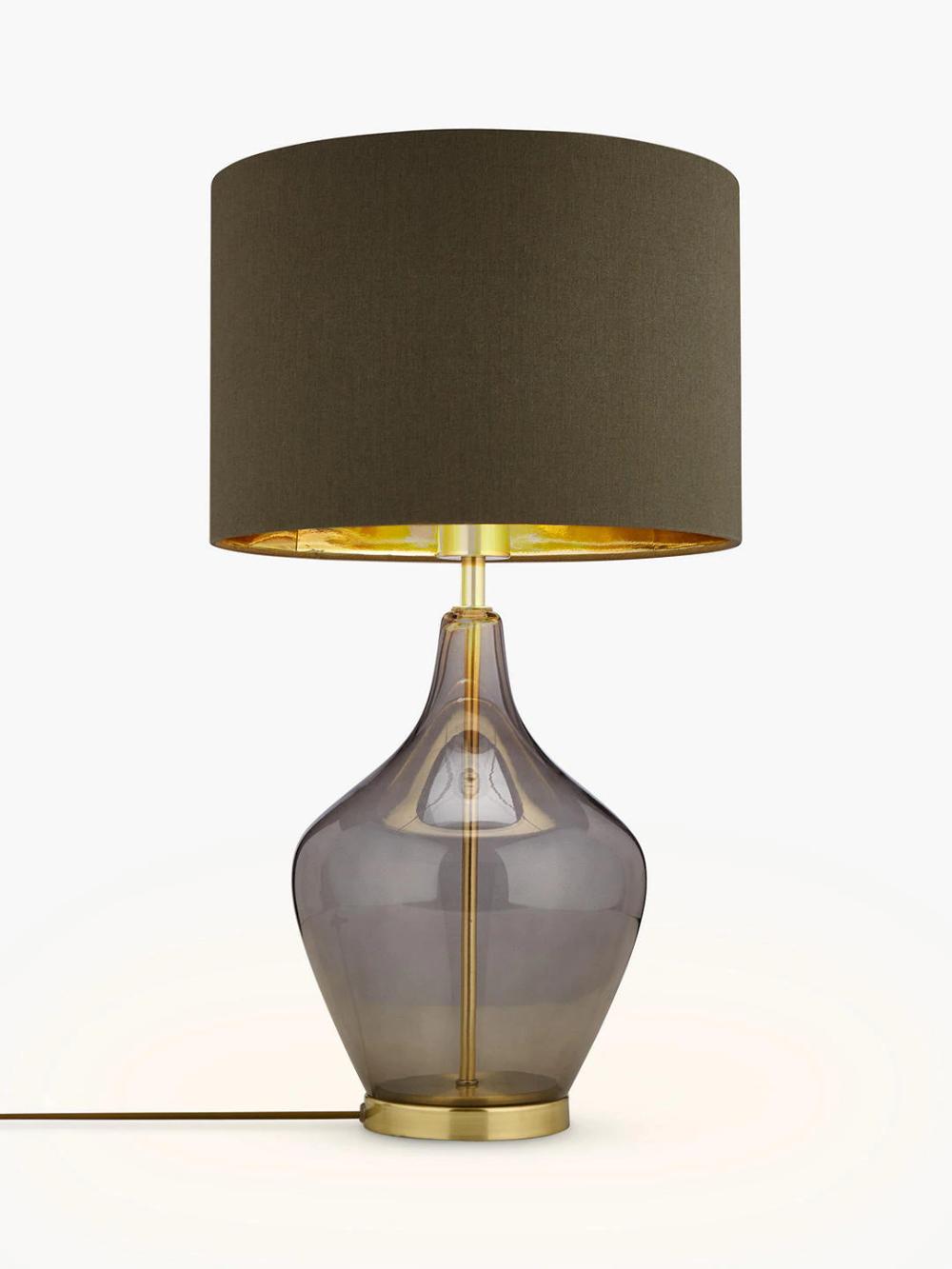 John Lewis Partners Ursula Table Lamp Smoked Glass Smoked Glass Table Lamp Glass Table Lamp