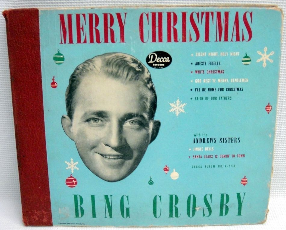 Bing Crosby Merry Christmas.Details About Bing Crosby Merry Christmas Decca A 403 78