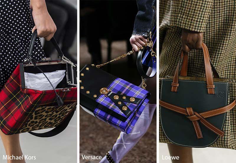 Fall Winter 2018 2019 Handbag Trends Tartan Bags Purses