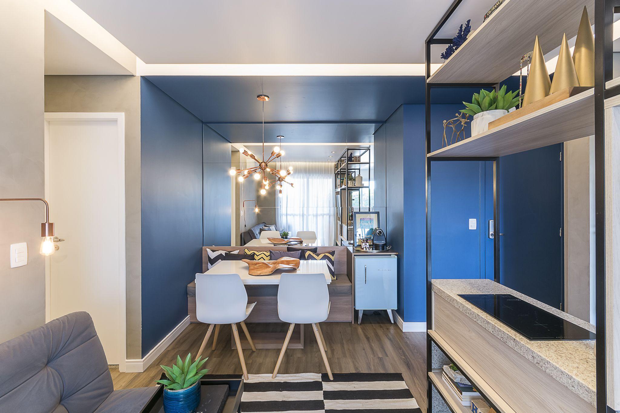 Apartamento Pequeno Com Decoracao Moderna Sala De Jantar Estar E