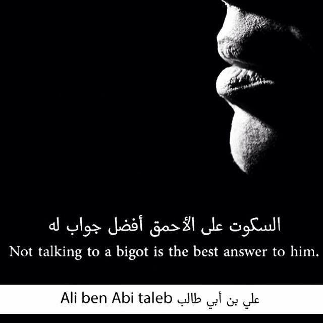 السكوت على الأحمق أفضل حواب له الإمام علي عليه السلام Ali Quotes Imam Ali Quotes Best Answer