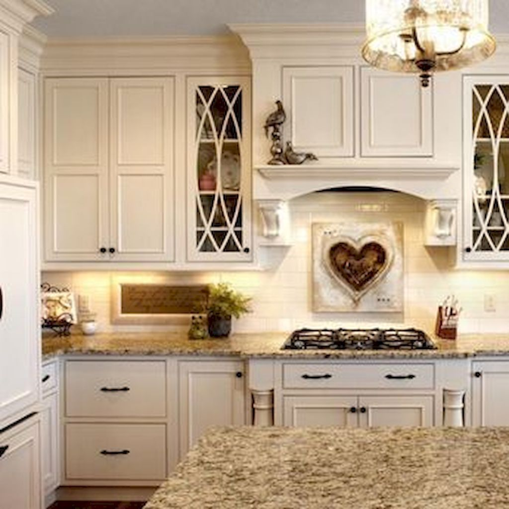 French Country Kitchen Cabinets: Stunning French Country Kitchen Cabinets Cream (42