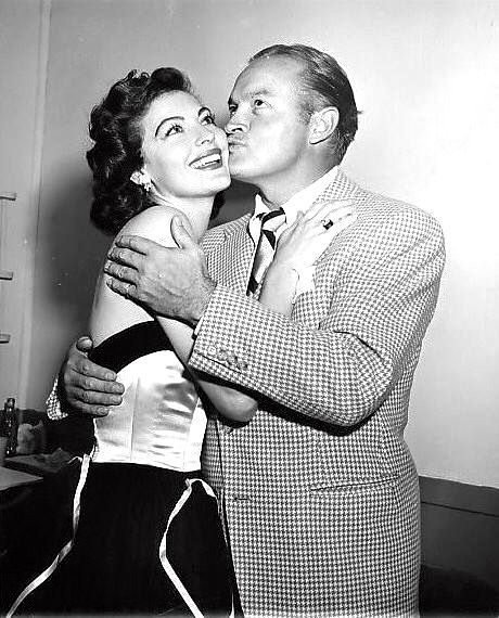 Ava Gardner Getting A Kiss From Bob Hope At The Ribbon Ball 1951