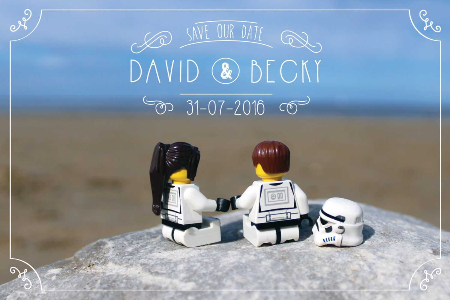 Star Wars Inspired Beach View Save the Date. **UPDATED
