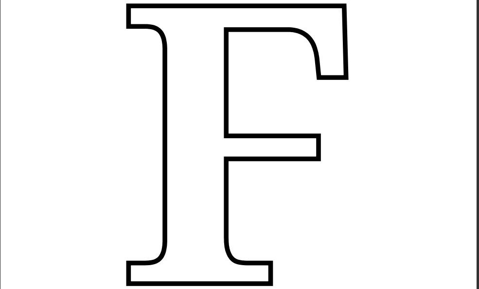 Printable Letter F Coloring Page Imprimiveis Capa De Caderno