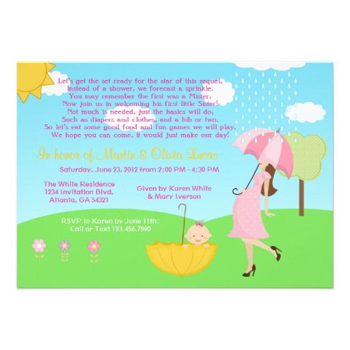 have a sprinkle instead of a shower for the mommytobe who's, Baby shower invitation