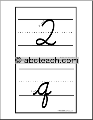 Number Names Worksheets : how to write a lowercase q in cursive ...