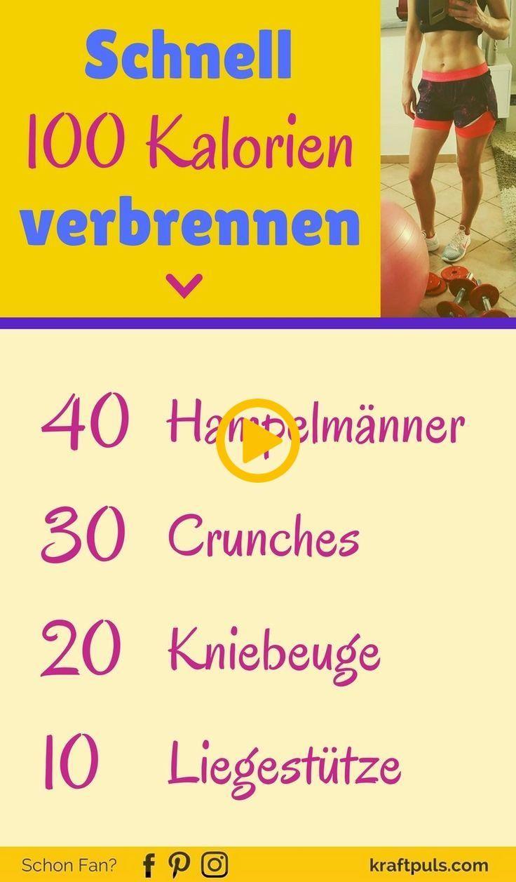 Mit diesem Power-Workout schnell 100 Kalorien verbrennen! #abnehmen #fitness #de...  #abnehmen #dies...