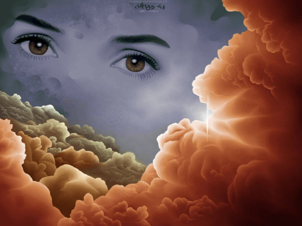 Eyes In The Clouds Fantasy Beautiful Eyes Pics Beautiful Art